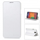 AZNS Protective PU Leather Case w/ Stand for Samsung Galaxy Note 3 - White