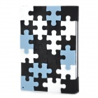 Unique Silicone Puzzle Cover Notebook - Black + White + Blue (100 Sheets)