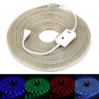 JRLED JR-LED-3528 SMD 50W 3000K 600 LEDs Waterproof RGB Strip Light - White (10m) (AC 220V)