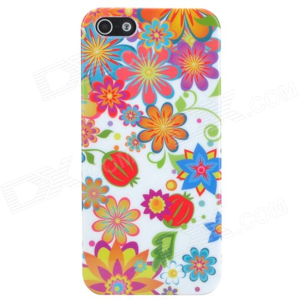 все цены на Flowers and Fruits Style Protective Plastic Back Case for Iphone 5 - White + Multicolor онлайн