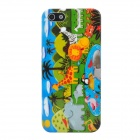 Animal World Style Protective Plastic Back Case for Iphone 5 - Multicolor