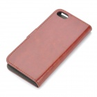 Stylish Protective PU Leather Case for Iphone 5 / 5s - Brown