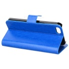 Stylish Protective PU Leather Case for Iphone 5 / 5s - Blue