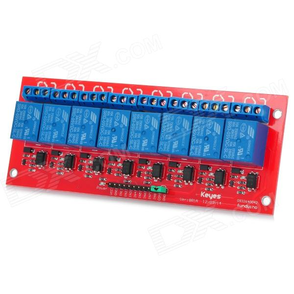 Keyes 8-Channel Relay Expansion Module w/ Optocoupler isolation - Red + Blue new original afpx e14yr plc 2a relay 14 output points fp x expansion unit
