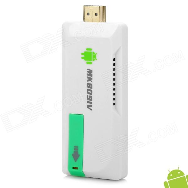 MK809IV Mini Quad-core Android 4.2 Google TV Player com TF / Micro USB / USB2.0 - Branco (100 ~ 240V)