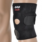 A093 Protective Mountaineering Rubber + Neoprene Knee Support - Black