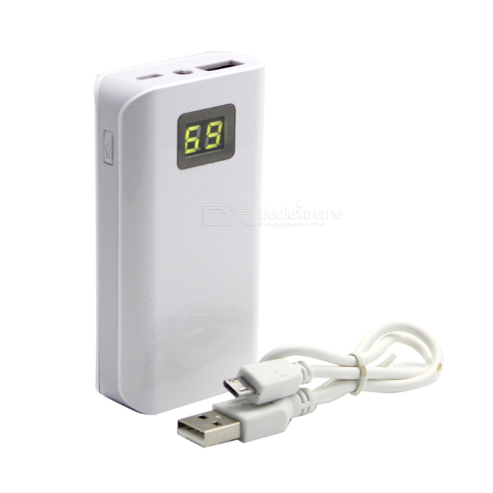 Soshine E2 Universal 4000mAh Portable External Power Bank w/ LED Indicator - White (5V)