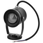 Waterproof 10W 210lm 3500K 1-LED Warm White Light Spotlight - Black