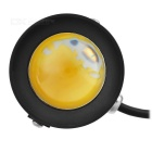 Waterproof 10W 3500K 210LM 1-LED quente Spotlight White Light - Preto