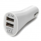 5V 2.1A + 1A Dual USB Car Charger w/ USB 3.0 Cable for Samsung Galaxy Note 3 / N9006 + More - White