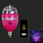 PS-20 E27 3W 35lm 3-LED RGB Light Stage Lamp w/ Remote Controller - Amaranth (85~260V)