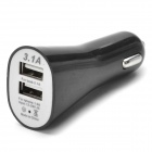 5V 2.1A + 1A Dual USB Car Charger w/ USB 3.0 Cable for Samsung Galaxy Note 3 / N9006 + More - Black