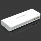Universal 5 x 18650 Battery Box Shell Smart Power Bank Case w/ LED Light + Indicator - White + Grey