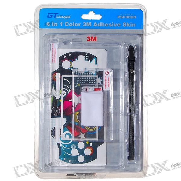 GT-Coupe 6-in-1 Multi-colored Protective Kit for PSP 3000