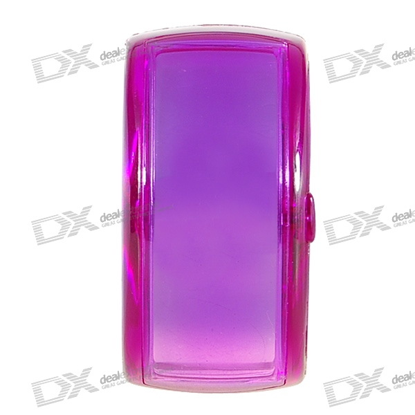 Odm Stylish LED Dot-Matrix Fashion Watch with Weekday Display (Translucent Purple)