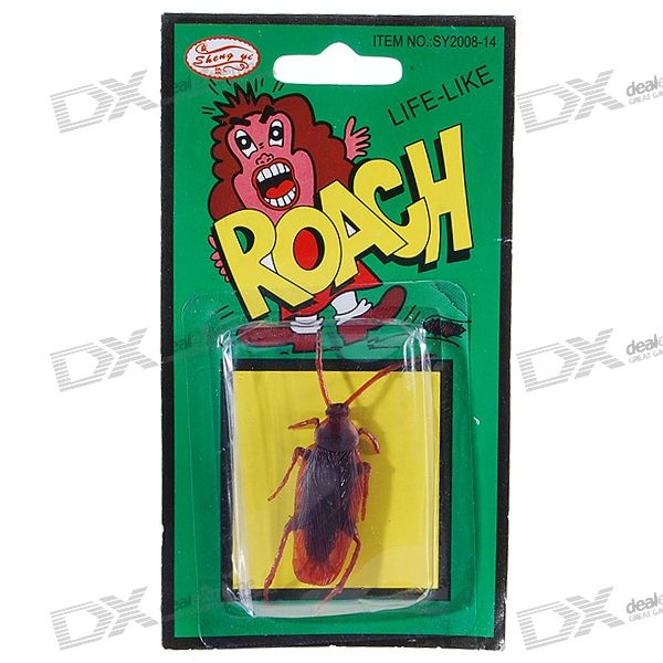 Realistic Rubber Cockroaches (3-Pack)