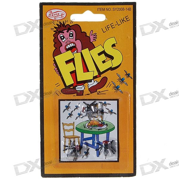 Realistic Rubber Flies (2-Pack/6-Flies)