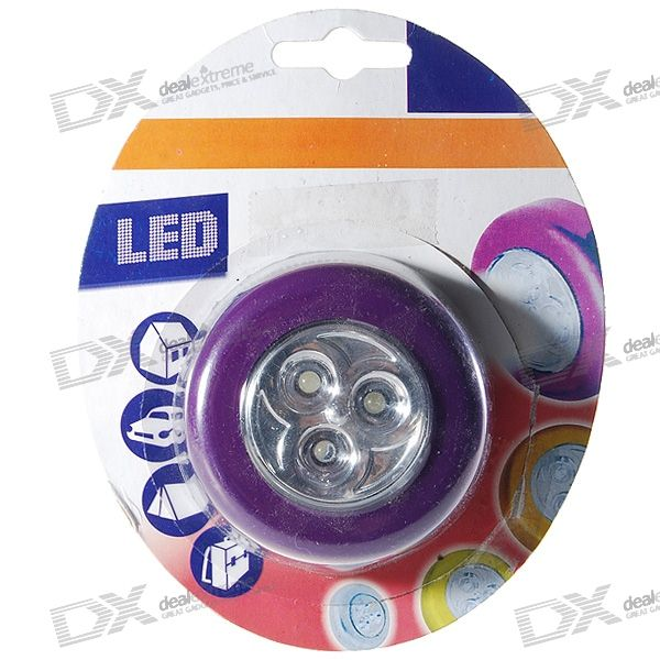 3 LED 3xAAA Camping Light Purple