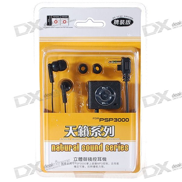 Earphone with Microphone and Line Control for PSP 3000