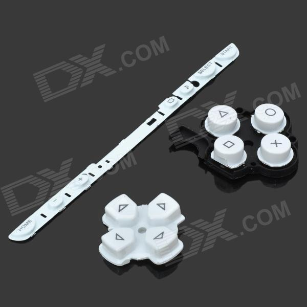 Repair Parts Replacement Buttons for PSP Slim/2000 (White) виниловая пленка psp 2000 cg