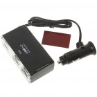 2-Socket Car Cigarette Power Splitter with 2 * 500mA USB Ports