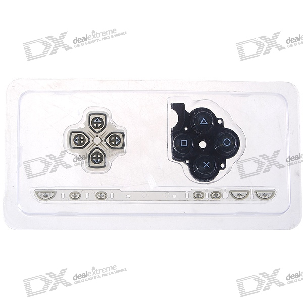 Repair Parts Replacement Buttons for PSP Slim/2000 (Translucent Black)
