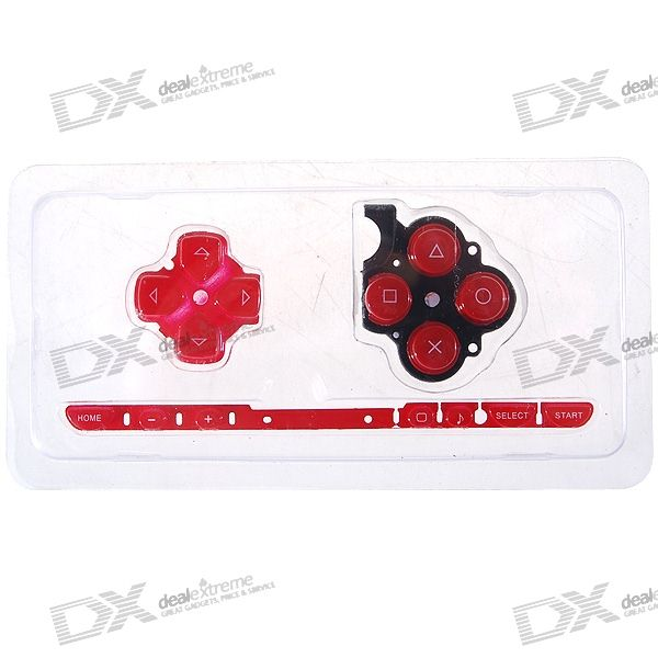 Repair Parts Replacement Buttons for PSP Slim/2000 (Red) виниловая пленка psp 2000 cg