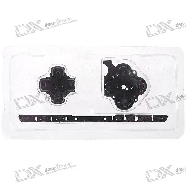 Repair Parts Replacement Buttons for PSP Slim/2000 (Black)