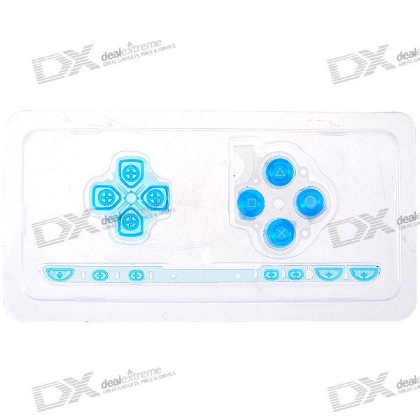 Repair Parts Replacement Buttons for PSP Slim/2000 (Translucent Azury)