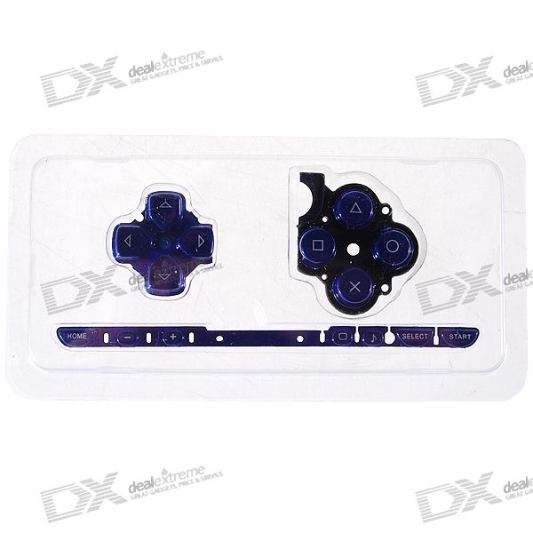 Repair Parts Replacement Buttons for PSP Slim/2000 (Blue) виниловая пленка psp 2000 cg