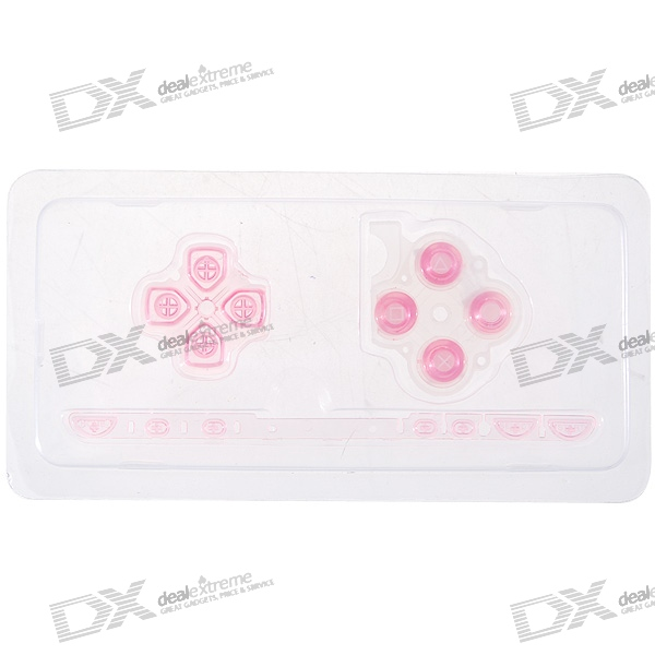 Repair Parts Replacement Buttons for PSP Slim/2000 (Translucent Pink)