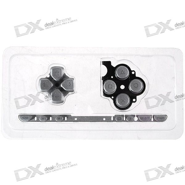 Repair Parts Replacement Buttons for PSP Slim/2000 (Silver)