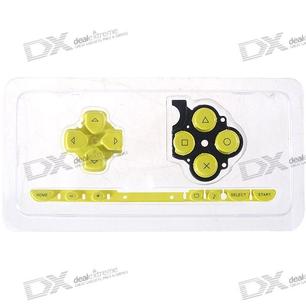 Repair Parts Replacement Buttons for PSP Slim/2000 (Yellow) виниловая пленка psp 2000 cg