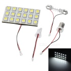 T10/BA9S/Festoon 2.7W 12V 18-LED 90000mcd Car Ceiling Dome Light Bulb - White Light