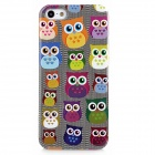 Owl Pattern Protective Plastic Back Case for Iphone 5 - Black + White + Multi-Colored
