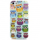 Owl Pattern Protective Plastic Back Case for Iphone 5 - Green