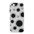 Glow-in-the-Dark Polka Pattern Plastic Back Case for Iphone 5 - Black + Translucent White