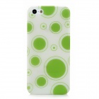 Glow-in-the-Dark Polka Dot Style Protective Plastic Back Case for Iphone 5 - Green