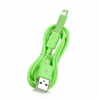 USB to Micro USB Data / Charging Cable + 8-Pin Lightning Adapter for iPhone 5 - Green