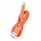 USB auf Micro USB Daten / Ladekabel + 8-Pin Blitz-Adapter für iPhone 5 - Orange