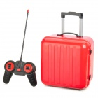 Mini 27MHz 2-Channel Remote Control Suitcase - Red + Black