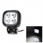 Square 40w 3600lm White Floodlight Work Light w/ 4 x Cree XM-L - Black (10~30V)