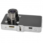 "G2W HD 1080P 3"" TFT carro grande angular DVR com mini HDMI / g-sensor / 4-IR LED / NTSC - preto + prata"