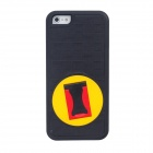 BENWIS Plastic Protective Case with Holder for Iphone5 - Black + Red + Yellow