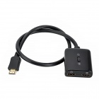 1080P HDMI 1.4 Male to Female Audio Video Switcher - Black (2-In / 1-Out)