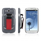 ENKAY Protective Plastic Back Case w/ Belt for Samsung Galaxy S III / i9300 - Grey