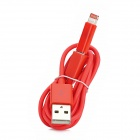 Micro USB Female to Lightning 8-Pin Male Adapter + USB Male to Micro USB Male Cable - Red