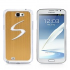 """S"" Style Protective Case w/ Caller Signal Flashing LED for Samsung Galaxy Note 2 N7100 - Golden"