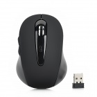 2,4-GHz-USB 2.0 800/1200 / 1600 dpi Wireless Optical Mouse - Schwarz