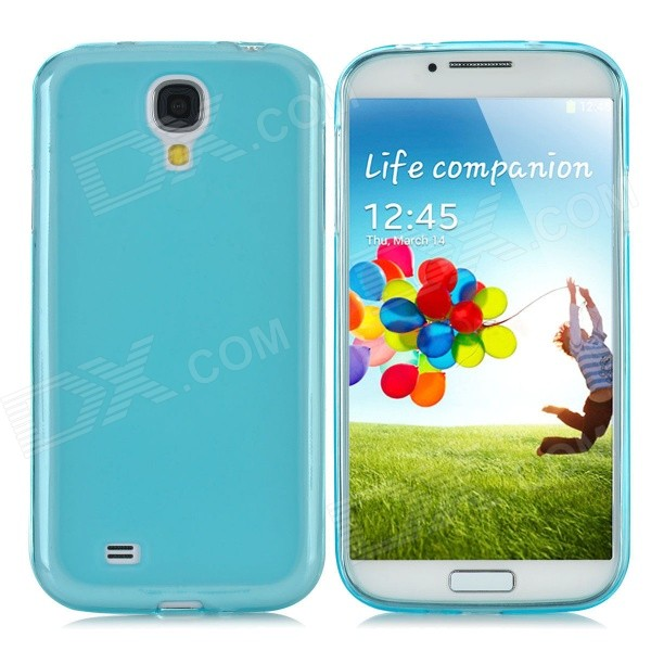 купить Protective TPU Back Case + PVC Waterproof Bag Set for Samsung Galaxy S4 i9500 - Translucent Blue недорого